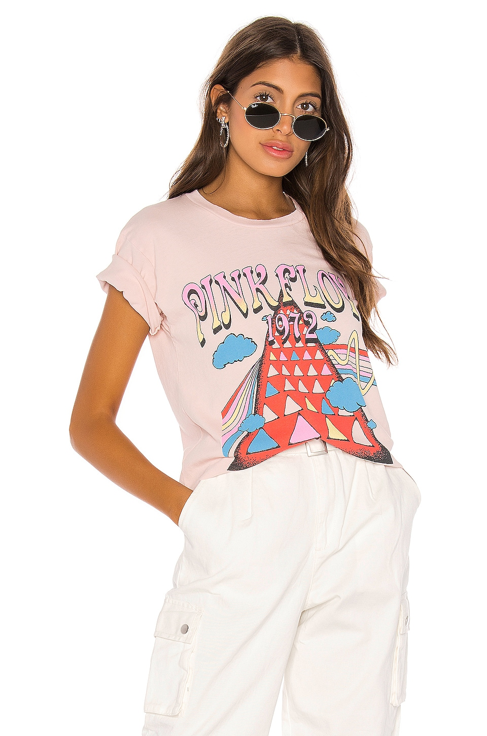 DAYDREAMER Pink Floyd 1972 Tee in Blush