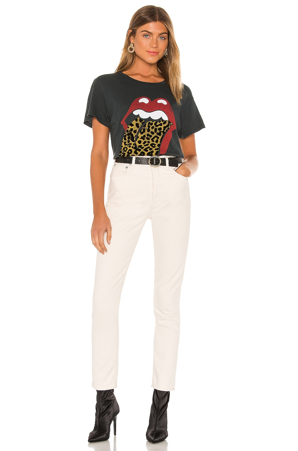 Rolling Stones Leopard Tongue Tour Tee, view 5, click to view large image.