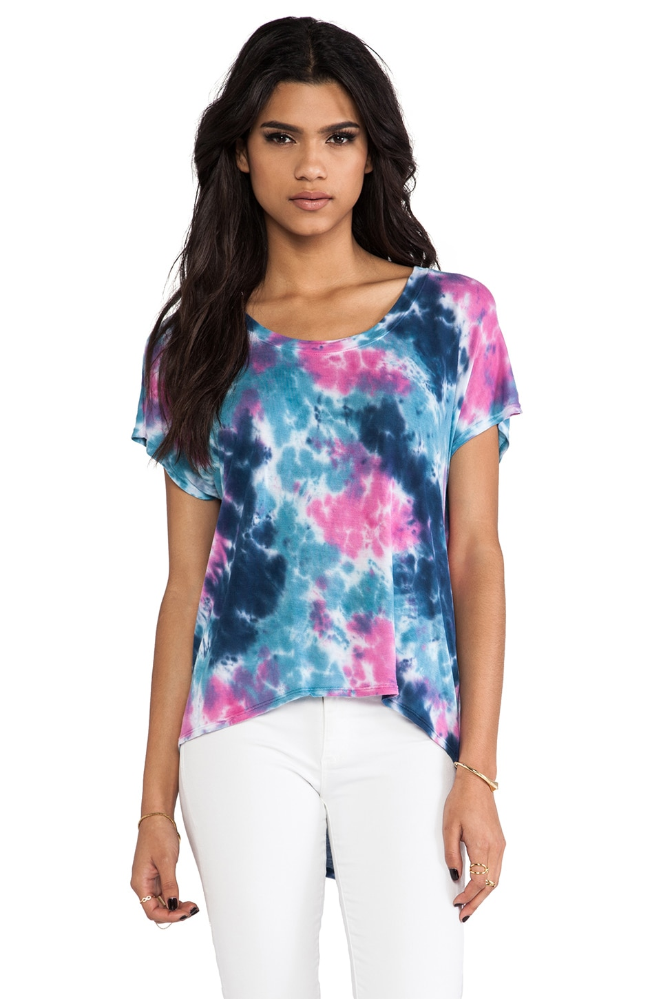 DAYDREAMER The Jimi Tee in Color Spill Dye