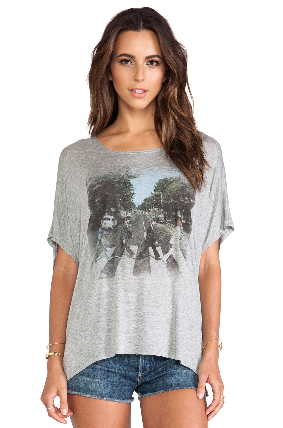 DAYDREAMER Abbey Road Dolman Tee in Heather Grey
