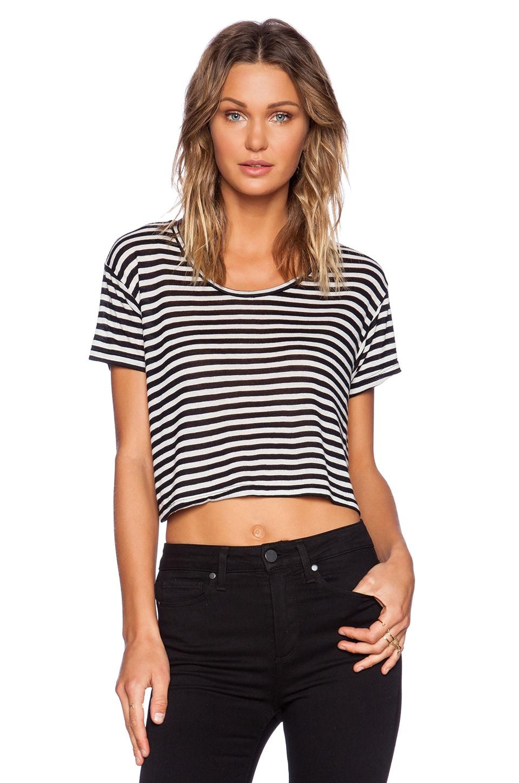 DAYDREAMER Nikki Crop Tee in Stripe