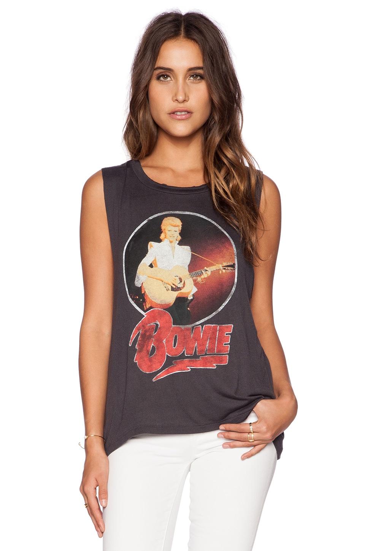 DAYDREAMER Bowie Rock Muscle Tank in Coal