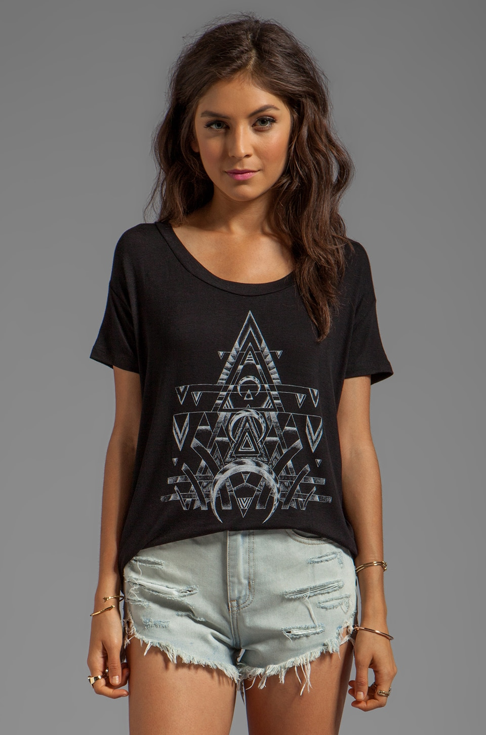 DAYDREAMER Mystic Geometry Loose Tee in Black