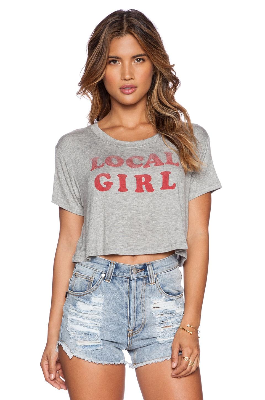 DAYDREAMER Local Girl Crop Top in Heather Grey