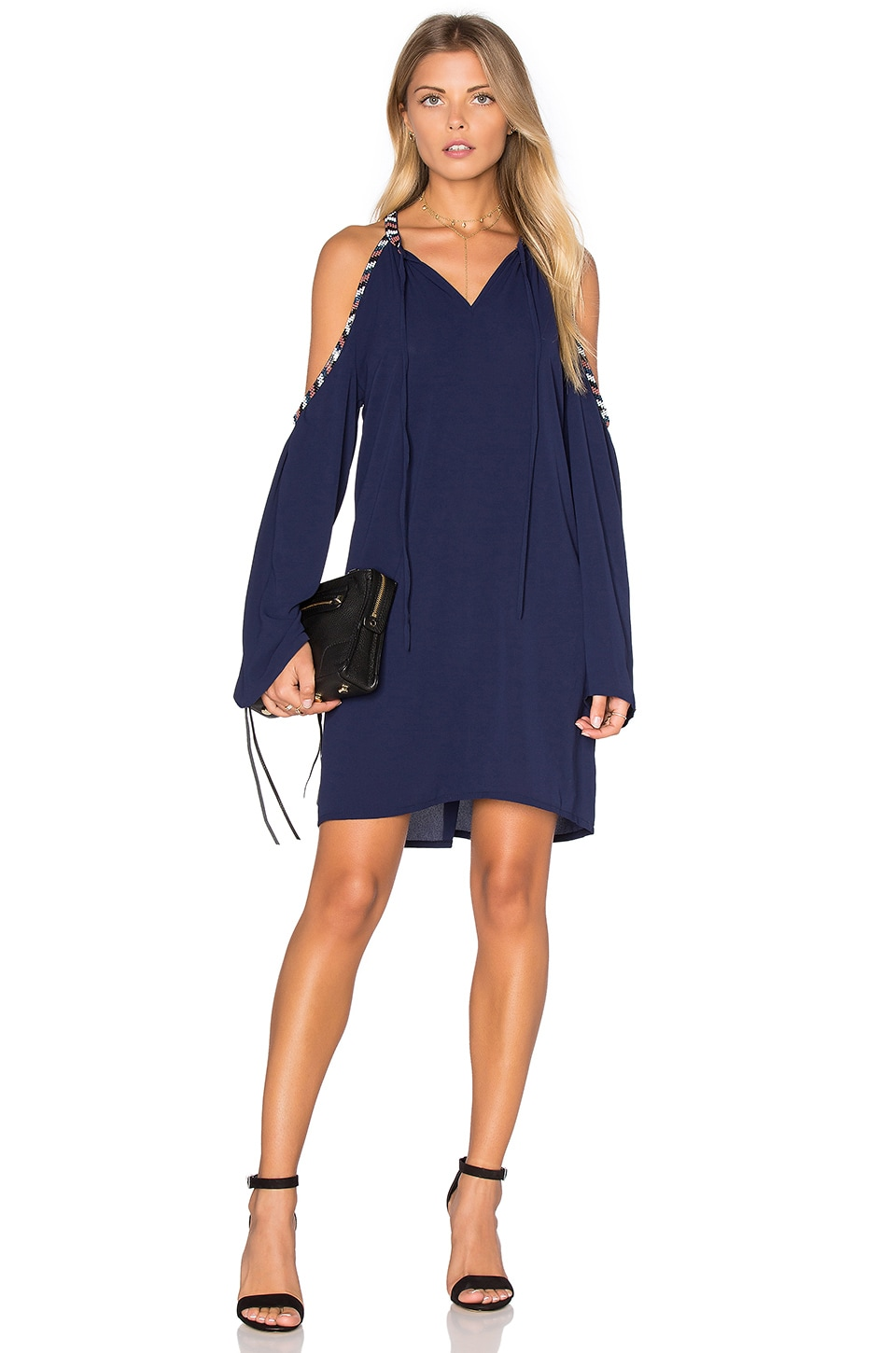 Deby Debo Berlin Embellished Dress in Navy