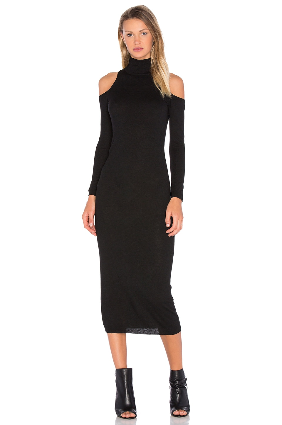 Deby Debo Lindsay Sweater Midi Dress in Black