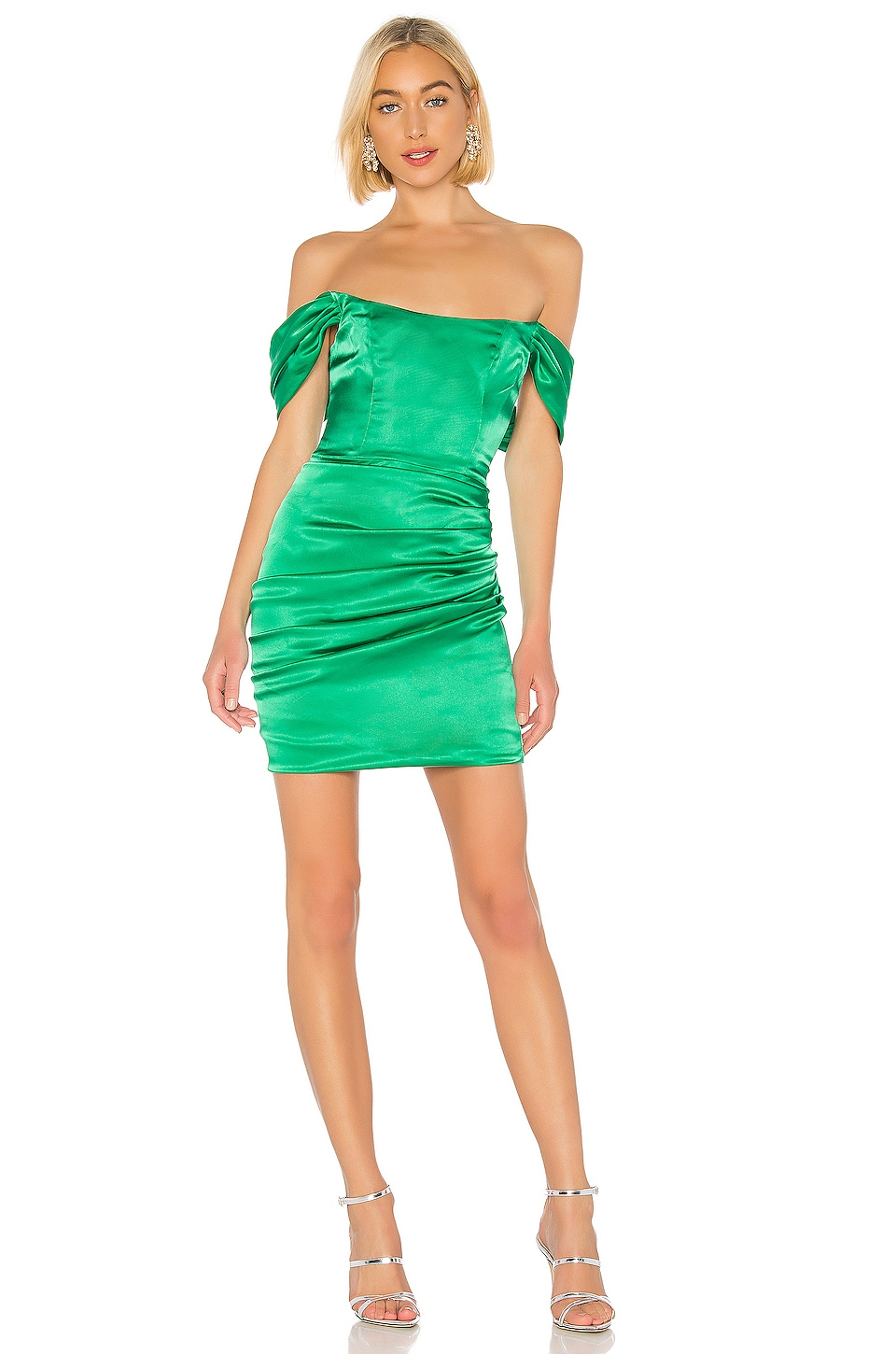 DE LA VALI Guadalupe Dress in Emerald Green