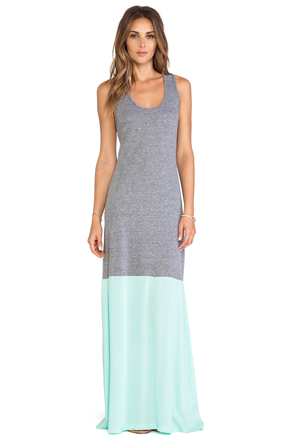 De Lacy DeLacy Laurel Tank Maxi Dress in Grey