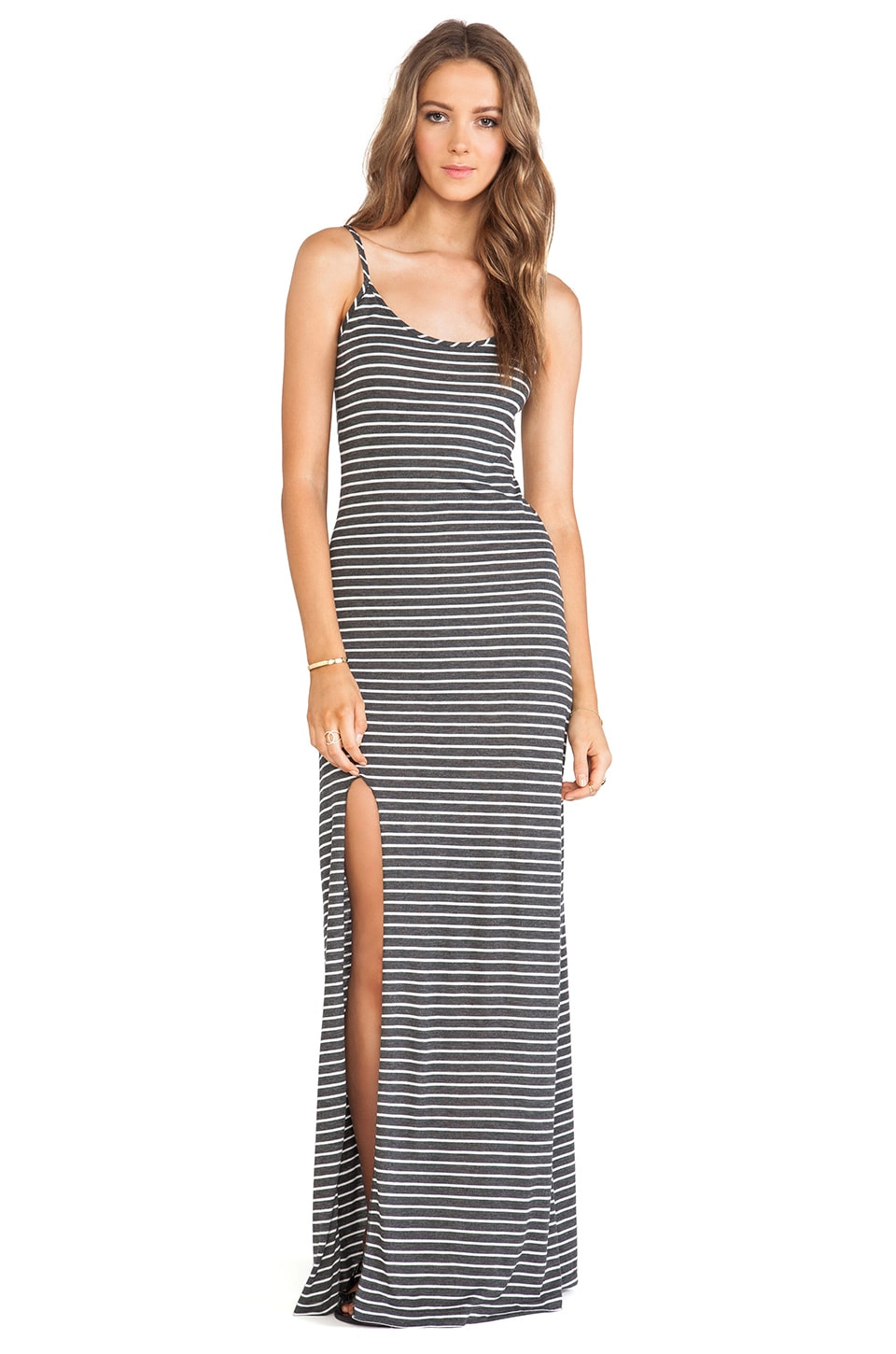 De Lacy DeLacy Anika Maxi Dress in Grey & White