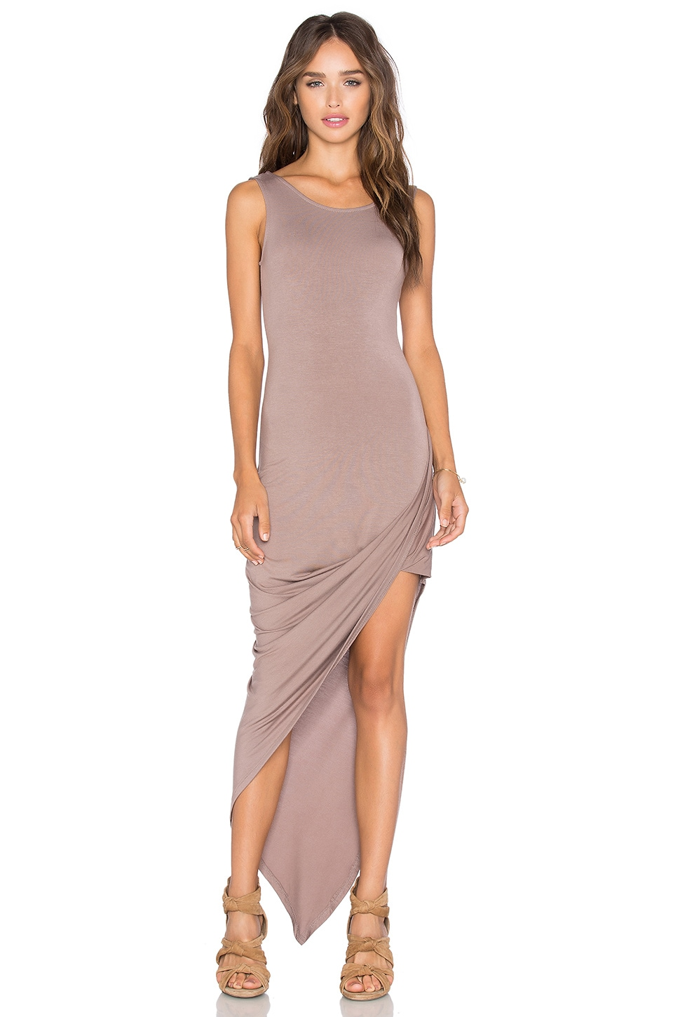 De Lacy Dawn Dress in Taupe