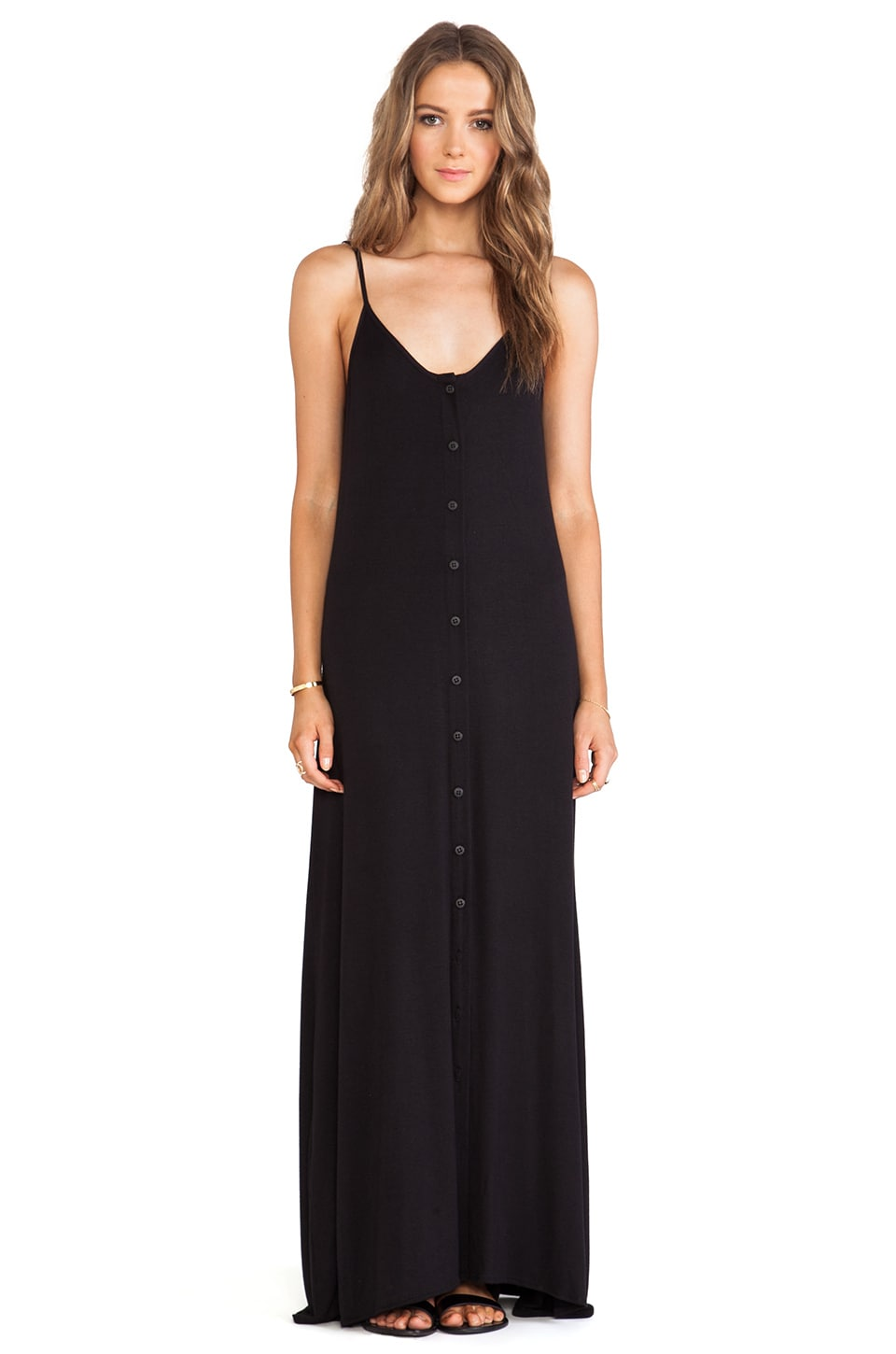 De Lacy DeLacy Olympic Maxi Dress in Black