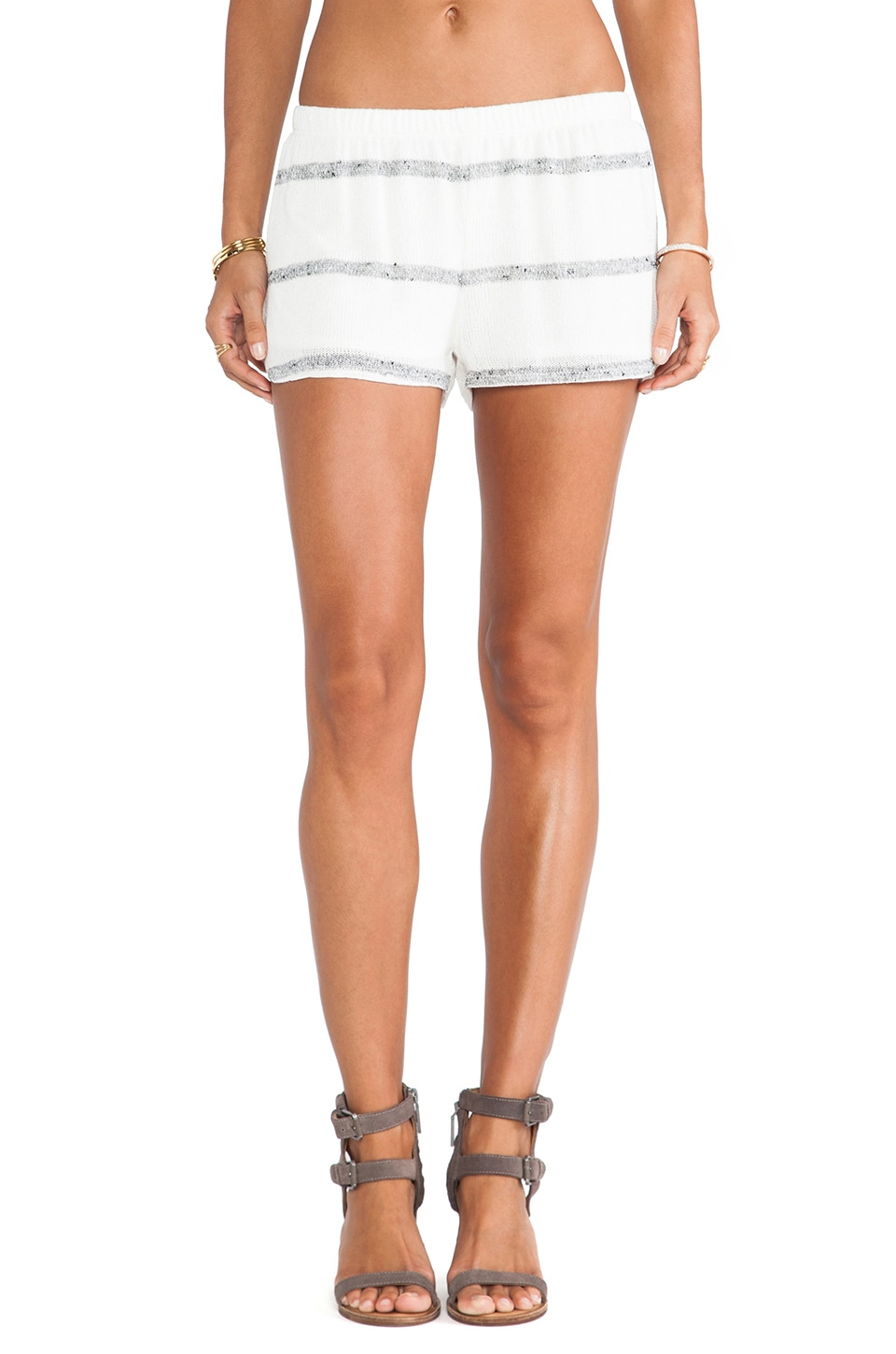 De Lacy DeLacy Dylan Short in White & Grey