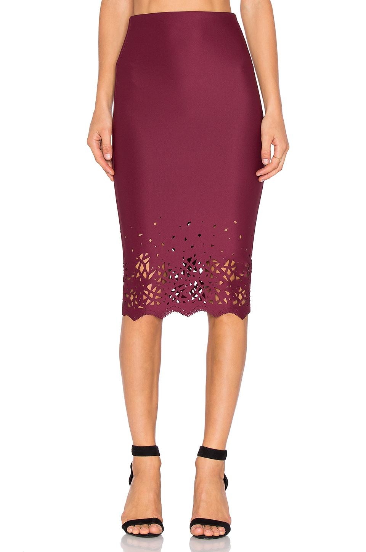 De Lacy Dakota Skirt in Merlot