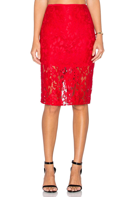 De Lacy Shea Skirt in Red