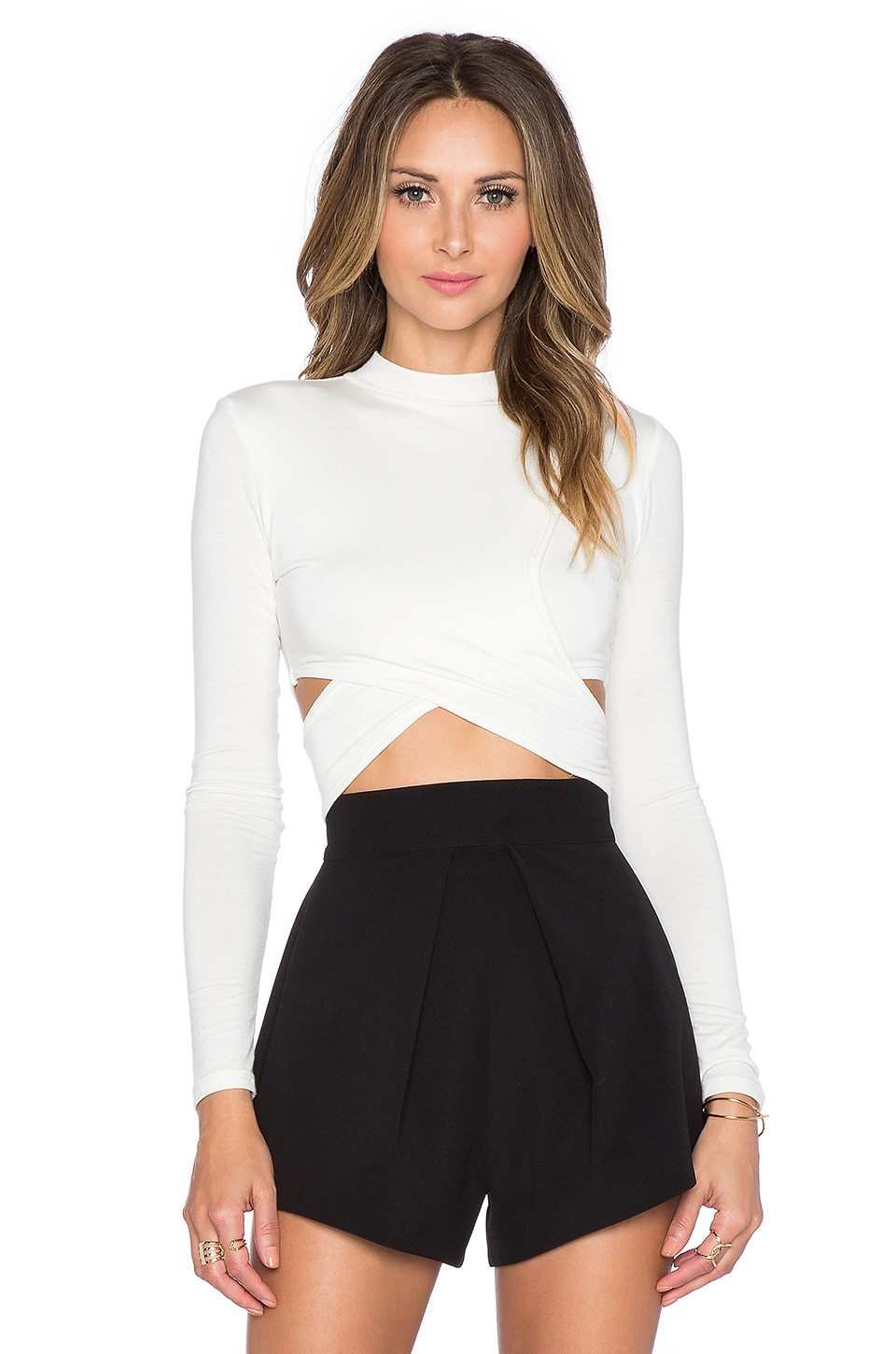 De Lacy Jules Crop Top in White