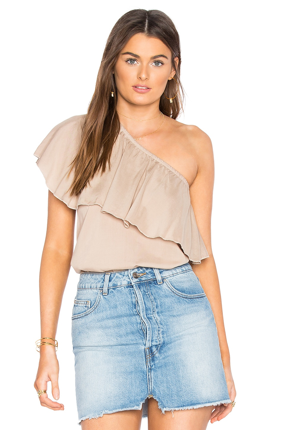 De Lacy Fiona Top in Taupe
