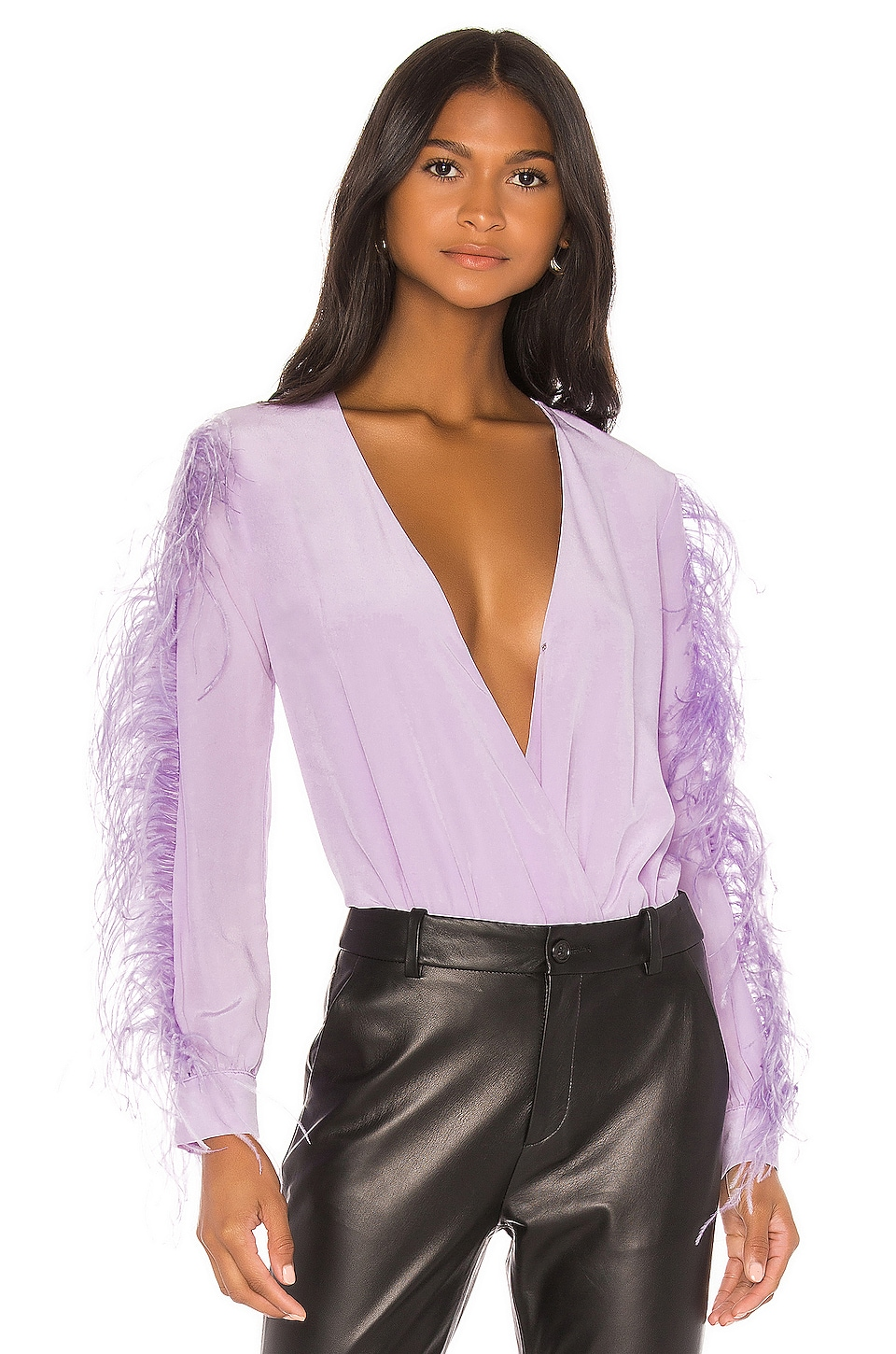 DELFI Cindy Bodysuit in Lilac