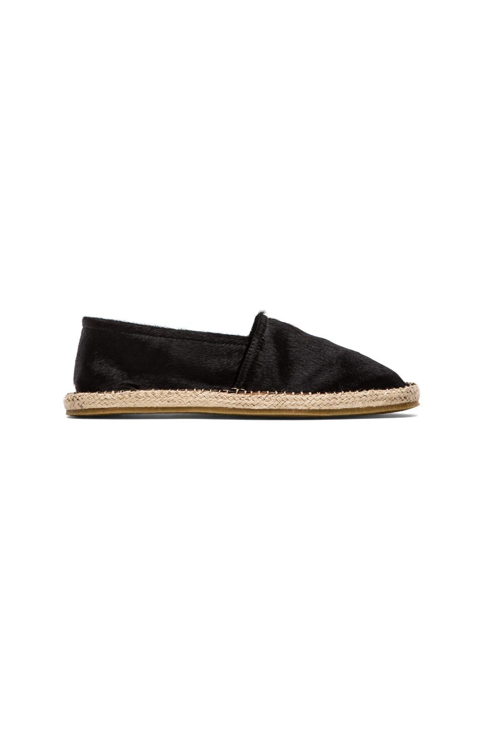 Del Toro Ponyhair Slip-On Espadrille in Black
