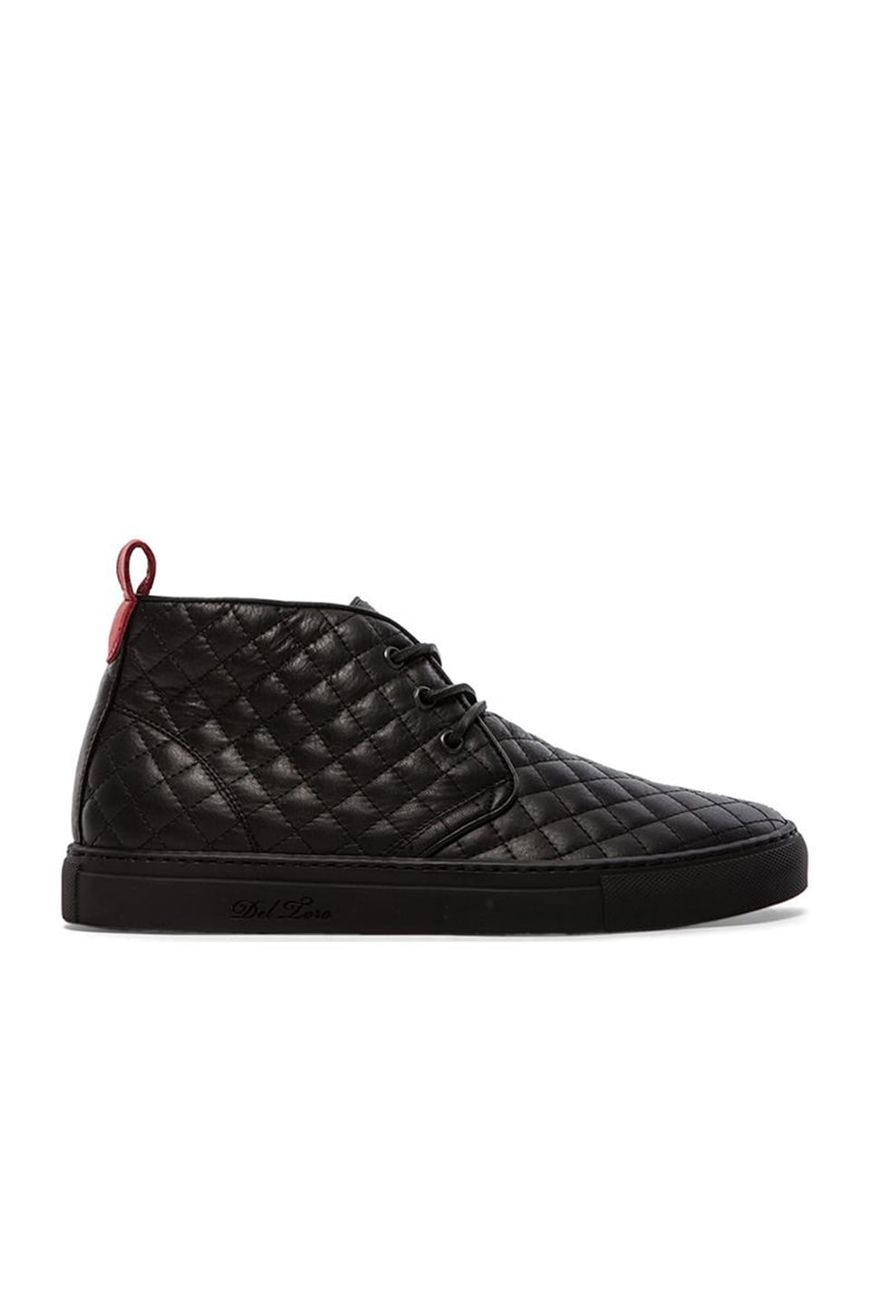 b9ab573c519b Del Toro Quilted Leather Chukka in Black