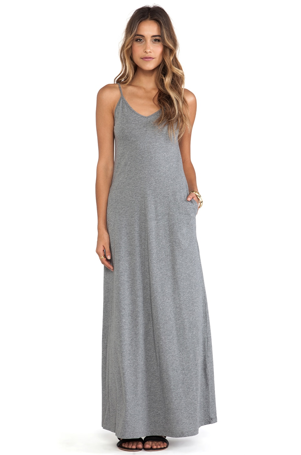 DemyLee Annabelle Maxi Dress in Dark Heather Grey