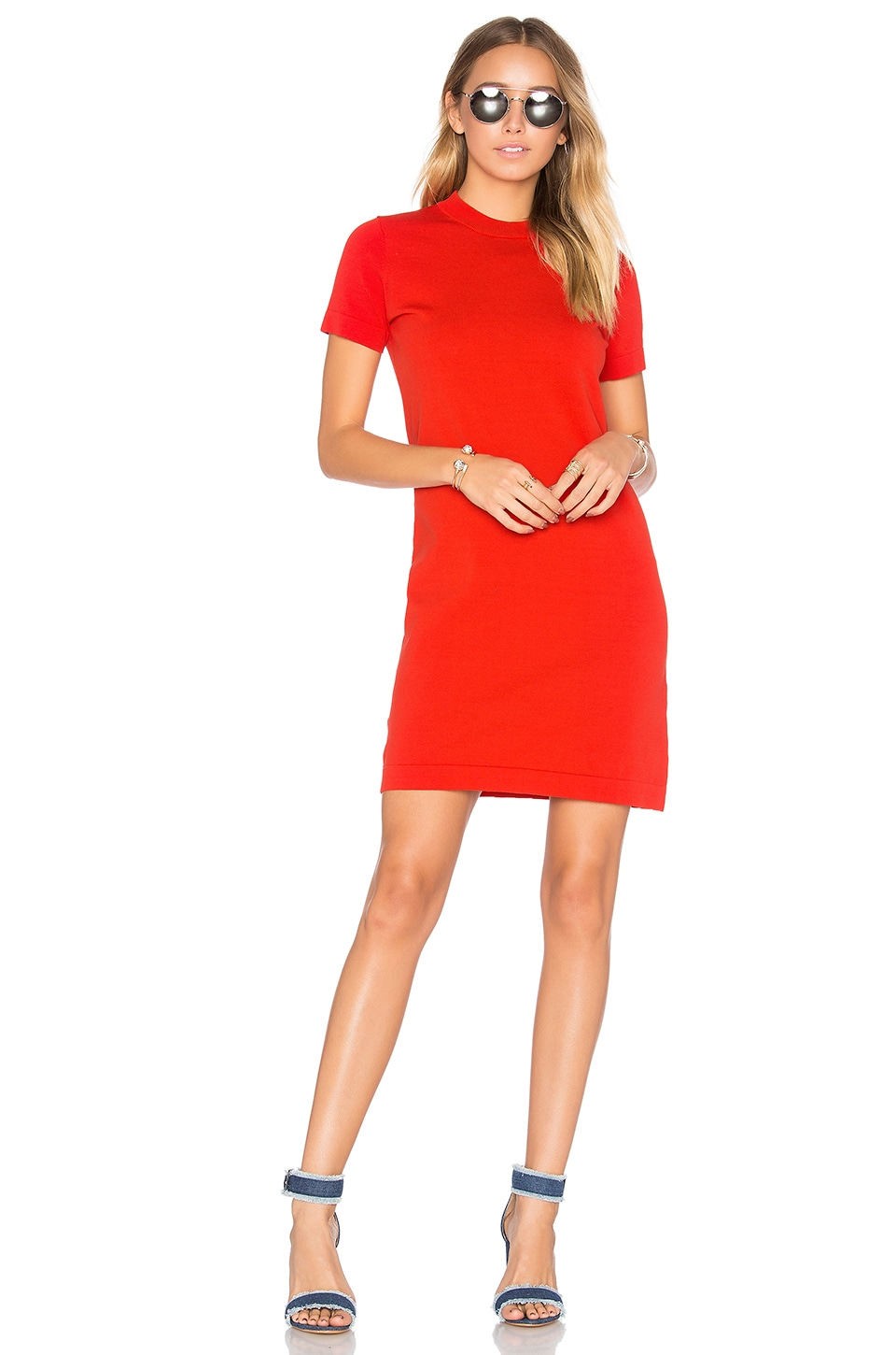 DemyLee Maxton Sweater Dress in Poppy Red