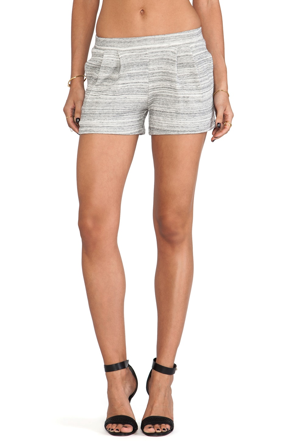 DemyLee Pleated Short in Heather Grey