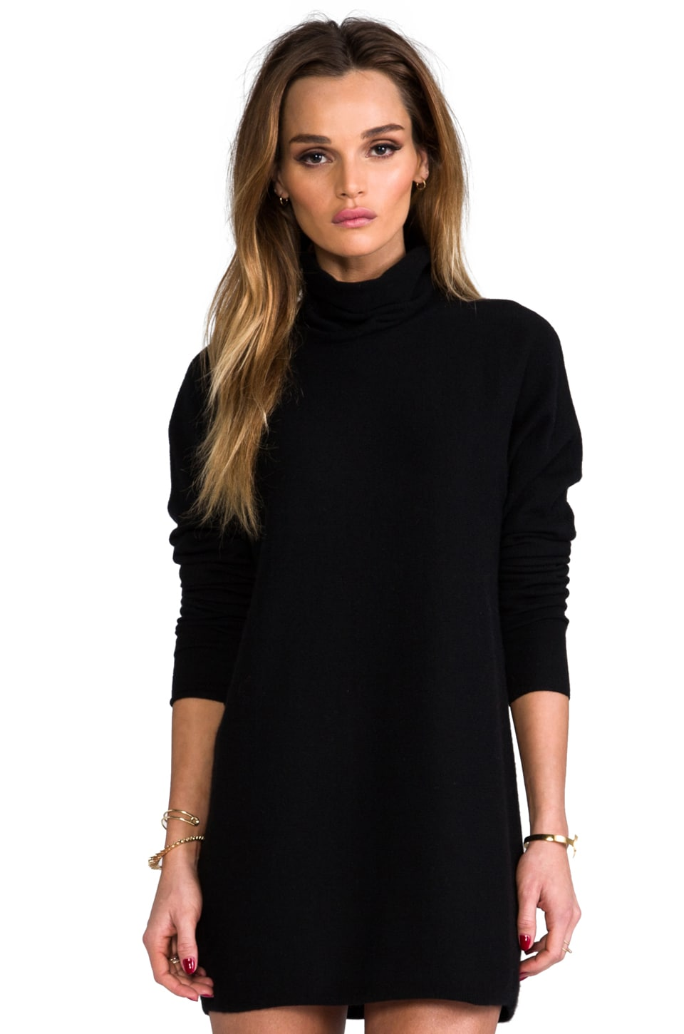 DemyLee Claire Cashmere Tunic in Black