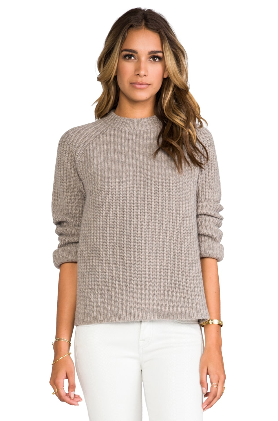 DemyLee Joseph Cashmere Pullover in Feather Hunter