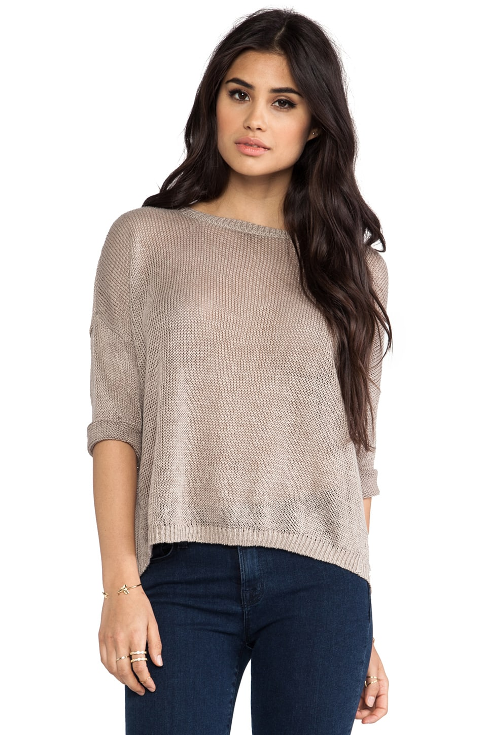 DemyLee x REVOLVE Alexa Short Sleeve Sweater in Cement