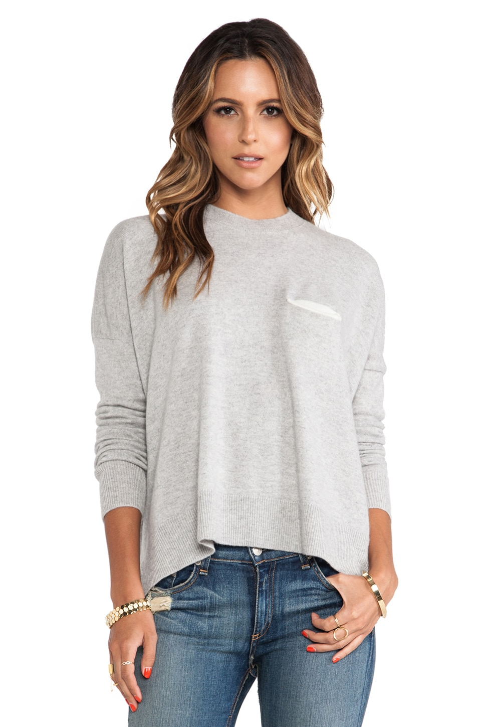 DemyLee Bennie Sweater in Light Heather Grey
