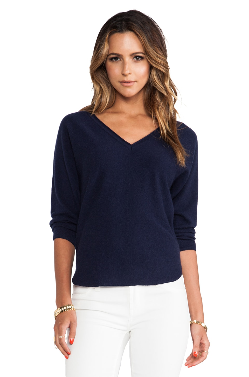 DemyLee Piper Dolman Sweater in Navy