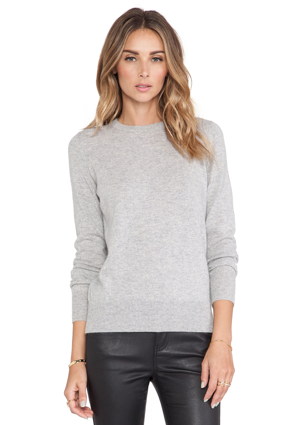 DemyLee Joie Cashmere Sweater in Light Heather Grey