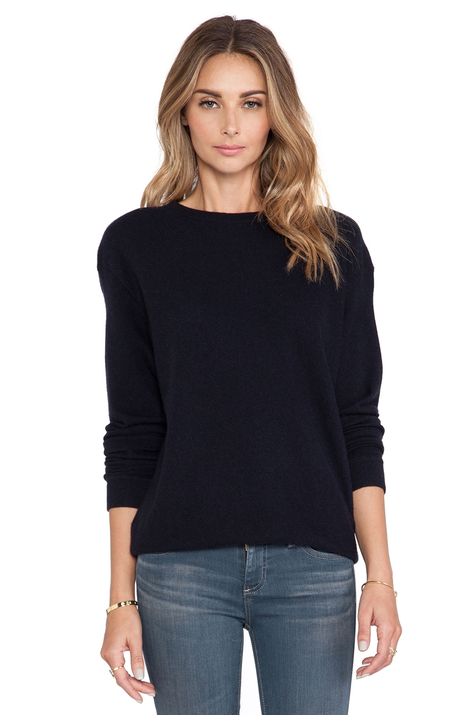 DemyLee Gigi Cashmere Sweater in Navy