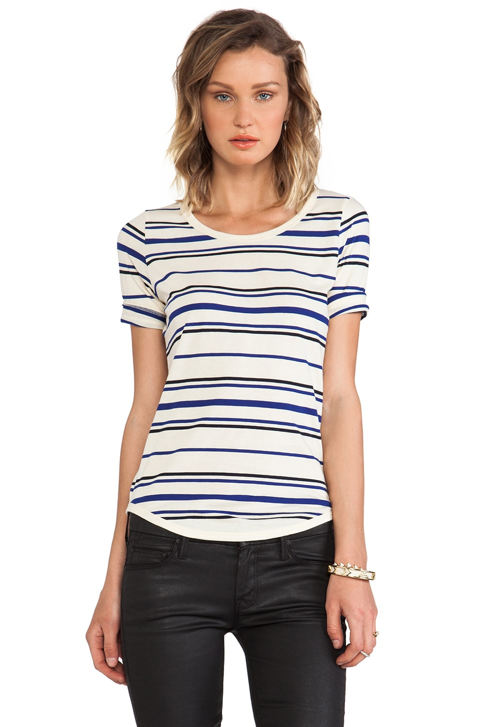 DemyLee Multi Stripe Kate Tee in Blue
