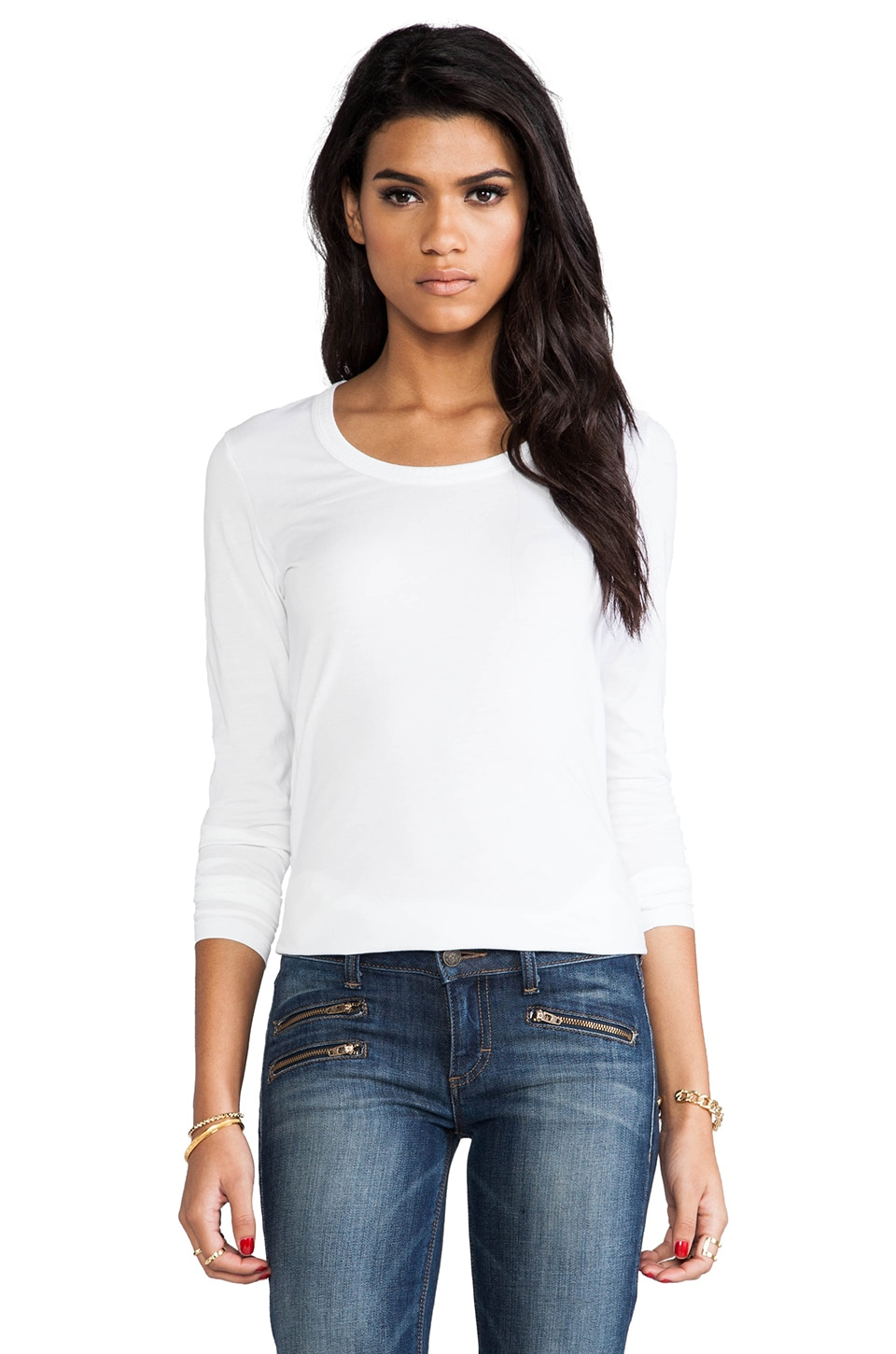 DemyLee Parker Long Sleeve in White