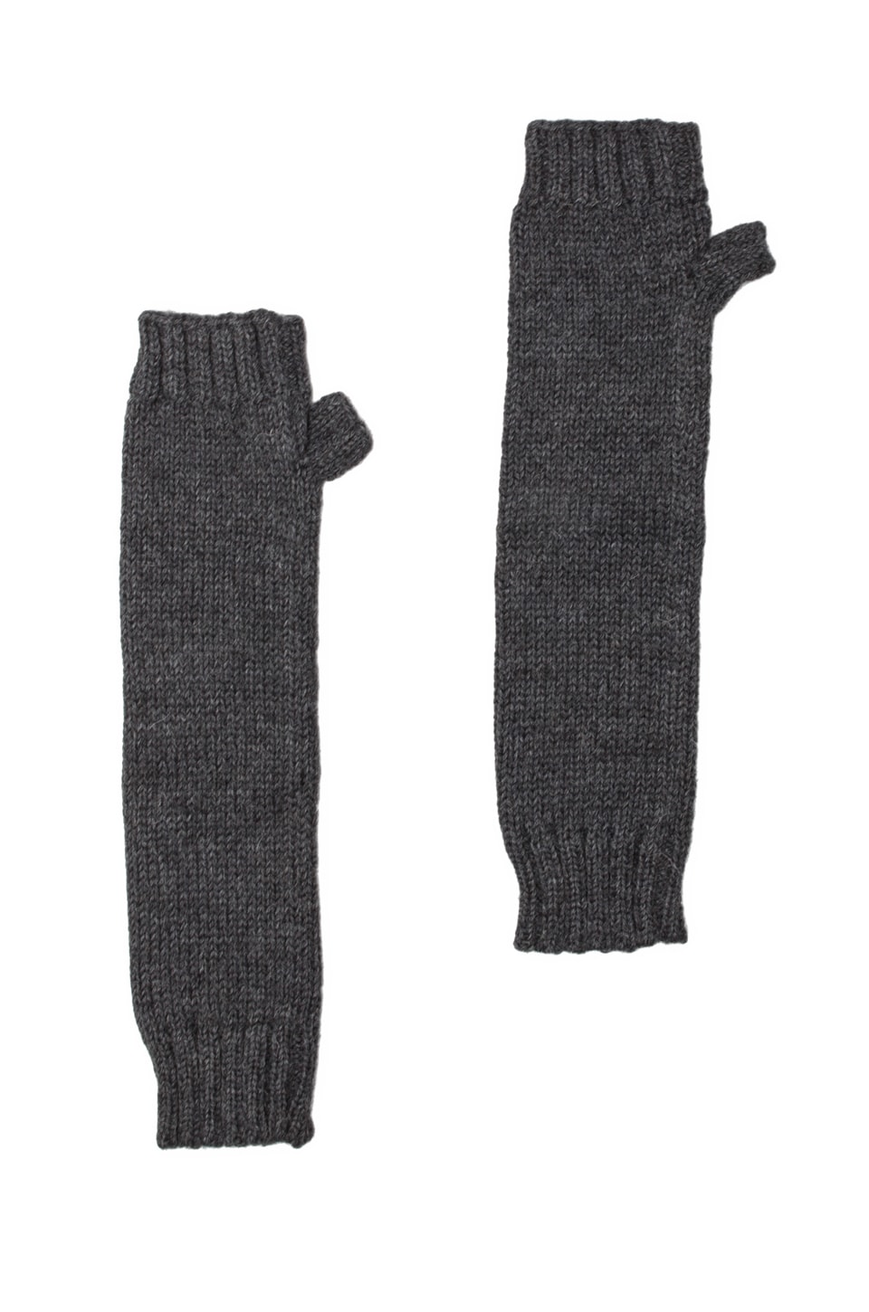 DE NADA Fingerless Armwarmers in Charcoal