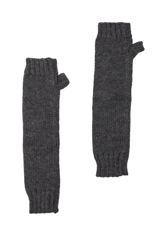 DE NADA Fingerless Armwarmers en Charcoal