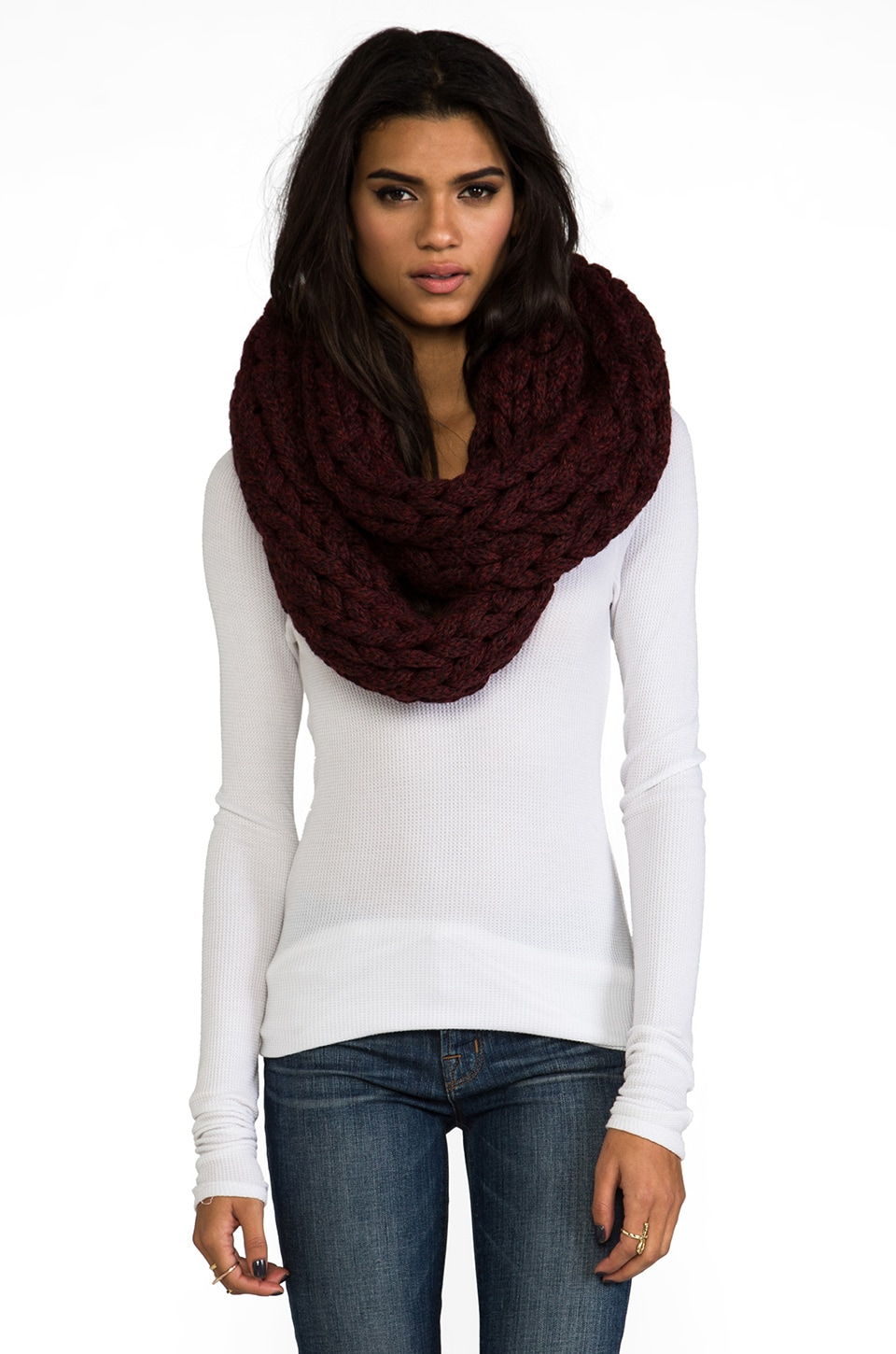DE NADA Large Knit Infinity en Red Mix