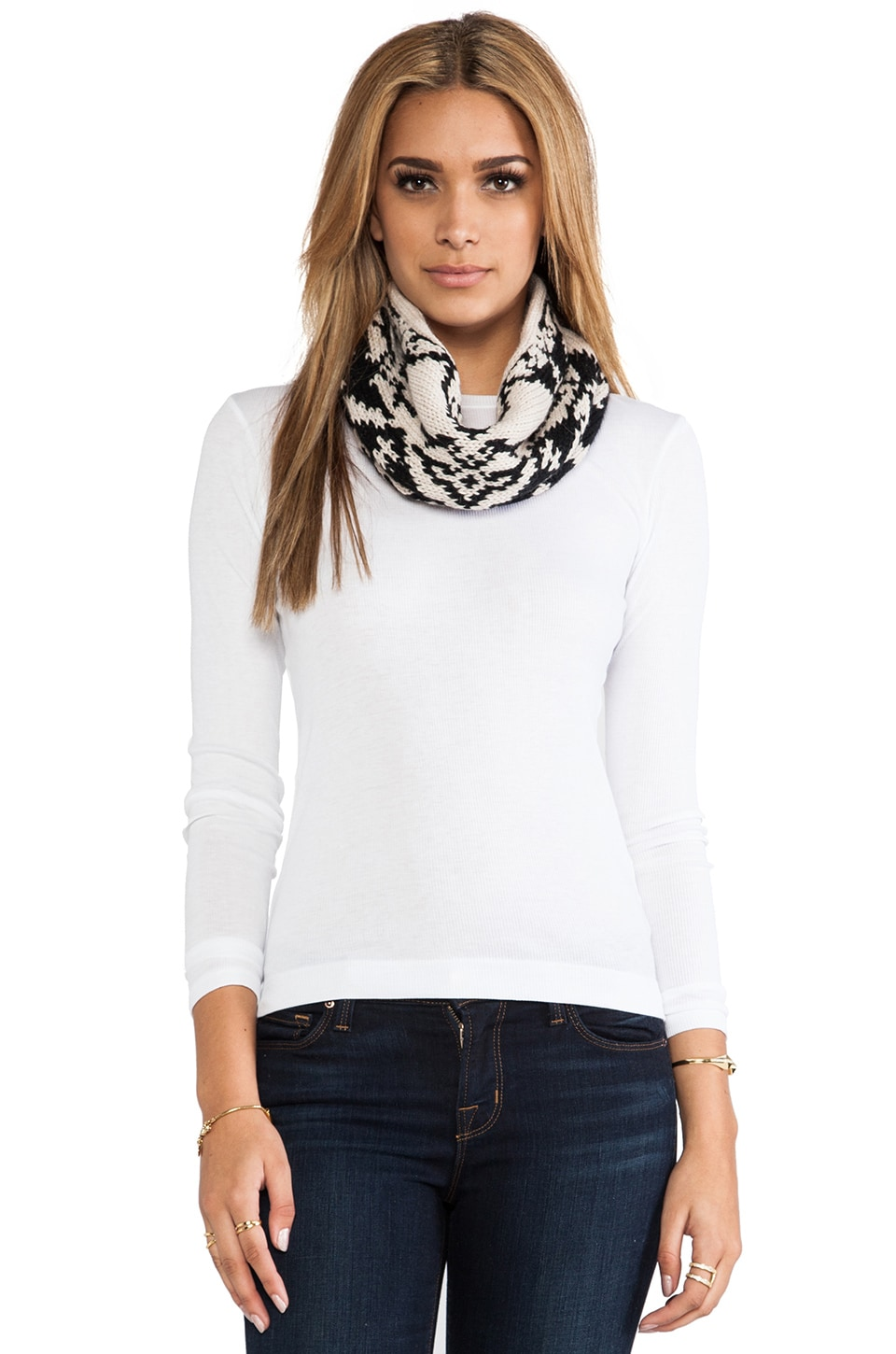 DE NADA Cowl Mountains in Black & Cream