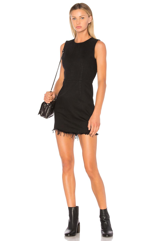 DENIM x ALEXANDER WANG Zip Dress in Black Fade