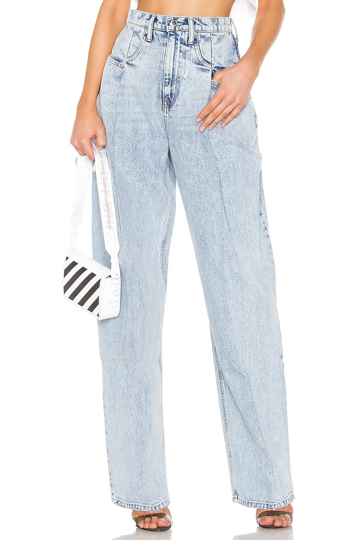 DENIM x ALEXANDER WANG Brace Pleated Jean in Pebble Bleach