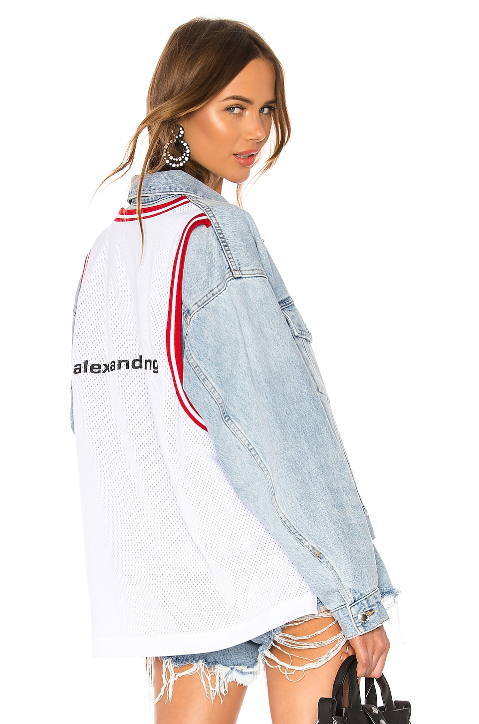 DENIM x ALEXANDER WANG Game Jacket in Bleach