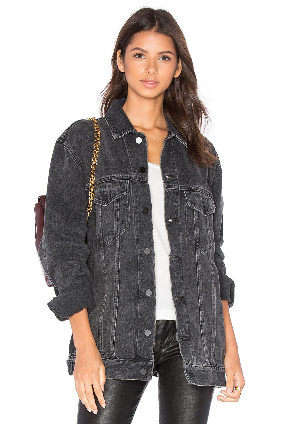 DENIM x ALEXANDER WANG Daze Denim Jacket in Grey Aged