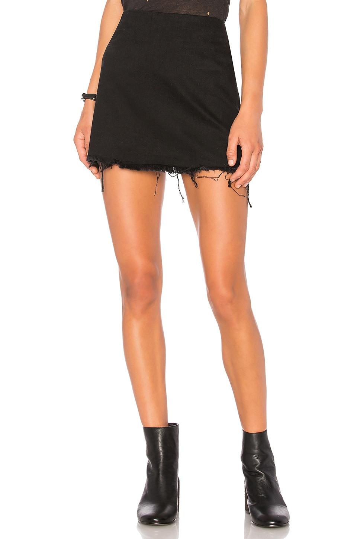 Zip Skirt in Black