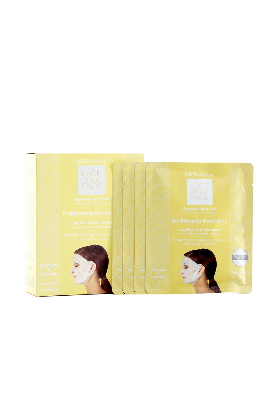 Dermovia Brightening Bearberry Lace Your Face Mask 4 Pack