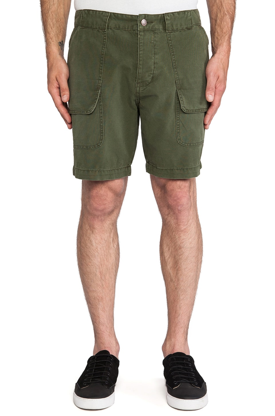 Deus Ex Machina Jonet Cargo Short in Olive