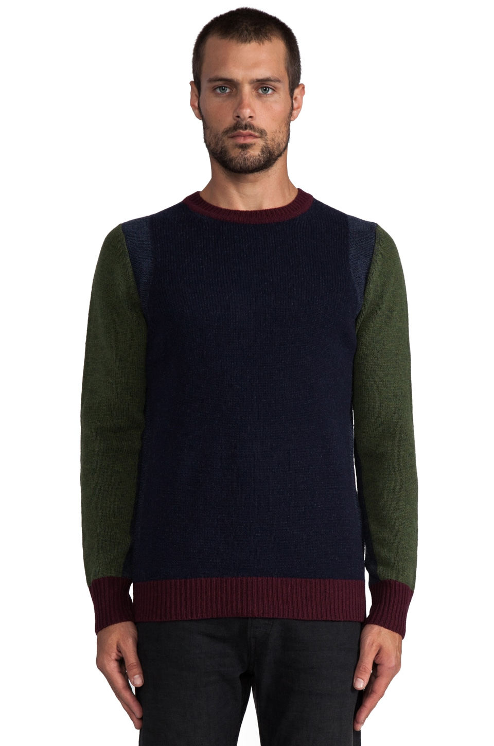 Deus Ex Machina Corey Sweater in Forest