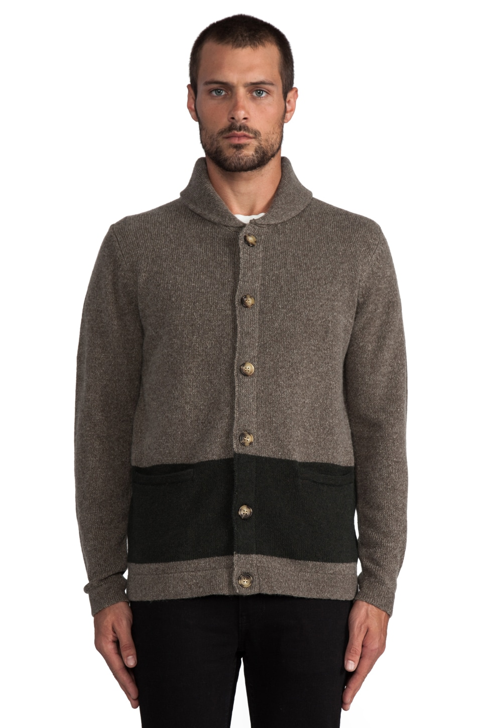 Deus Ex Machina Watson Sweater in Olive/ Tarmac
