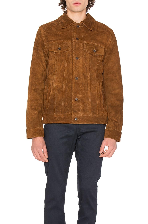 Deus Ex Machina Django Suede Jacket in Brown Tan