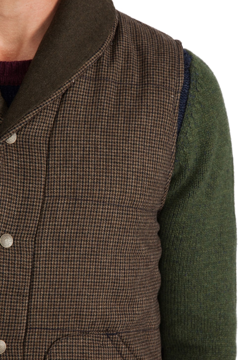 Deus Ex Machina Doyle Vest in Tarmac Check